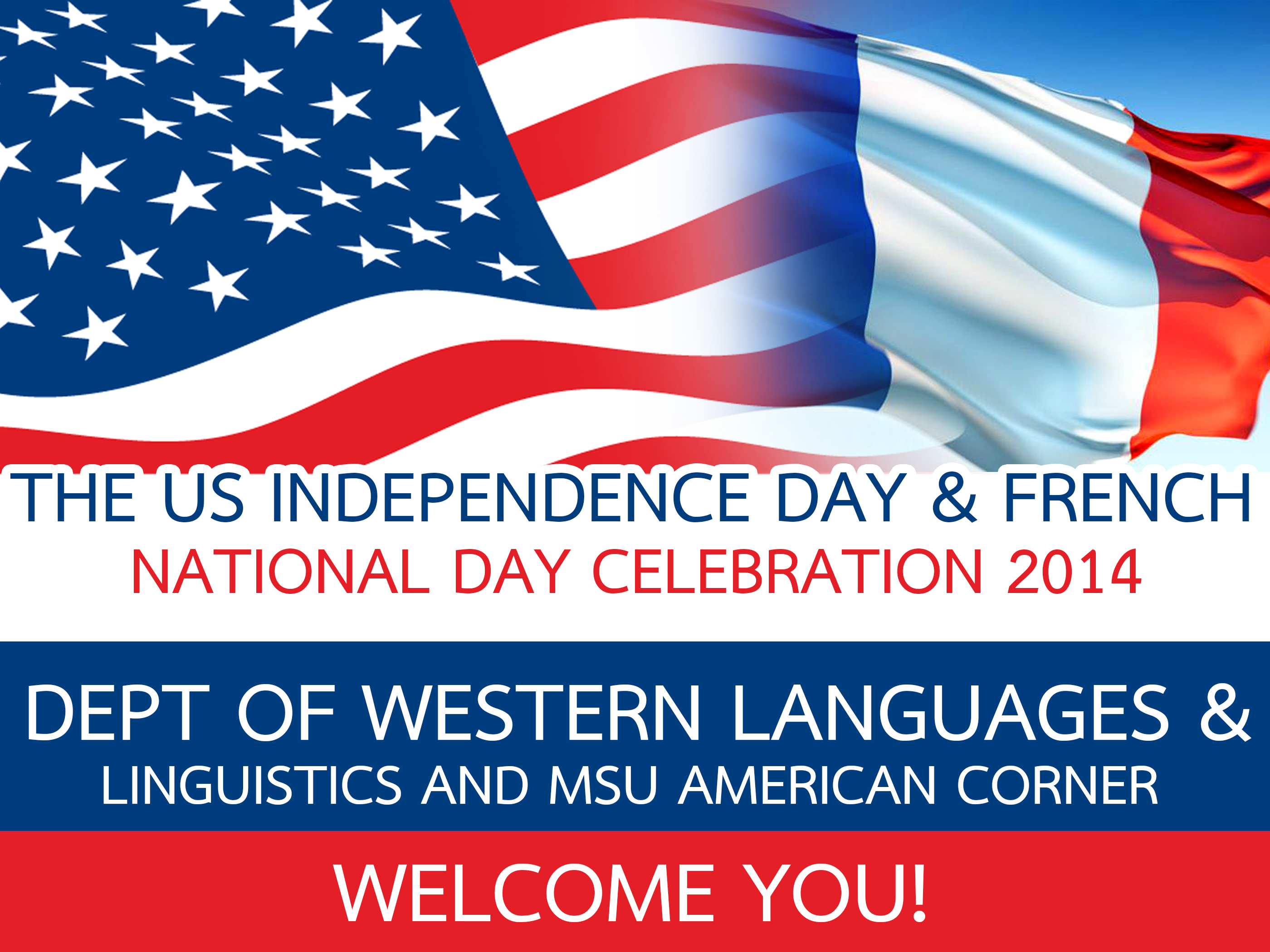 THE US INDEPENDENCE DAY & FRENCH NATIONAL DAY CELEBRATION 2014